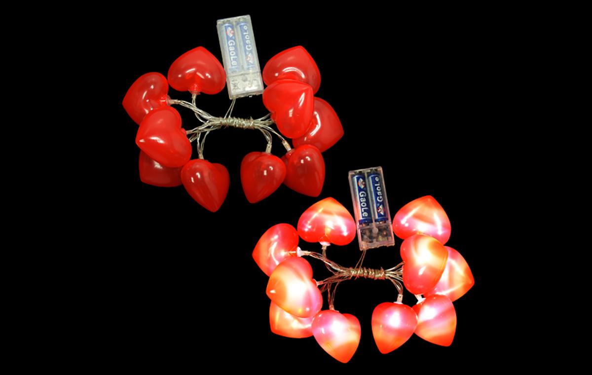 情人节10灯灯串-红心
