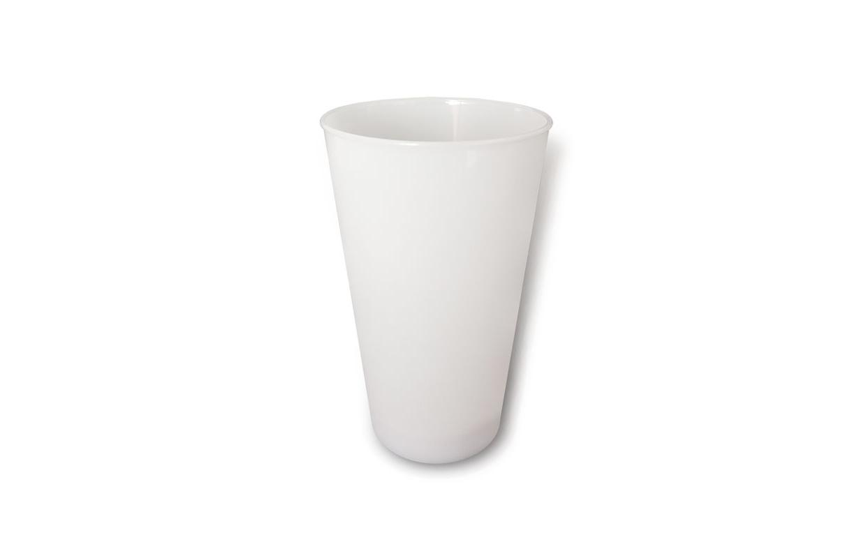 七彩发光乳白色按键杯(品托杯)