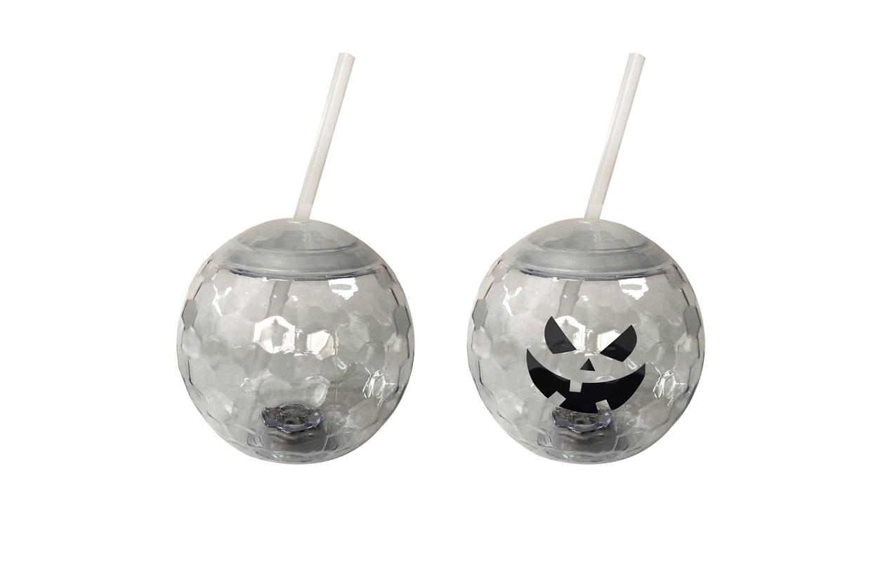 新款创意闪光钻石面球形杯