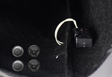 12灯闪光巫婆帽 电池图
