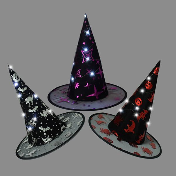12灯闪光巫婆帽 发光展示图