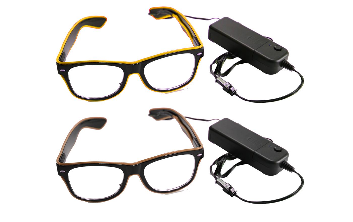 新款EL冷光LED发光眼镜
