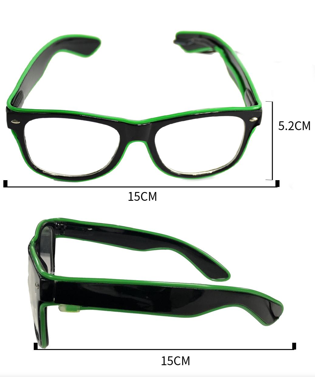 单色EL方形发光眼镜标准款_副本