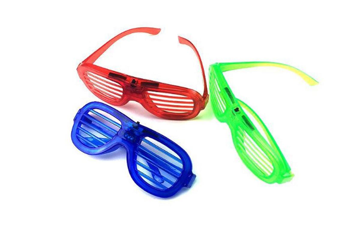 新款百叶窗横隔LED发光闪光眼镜