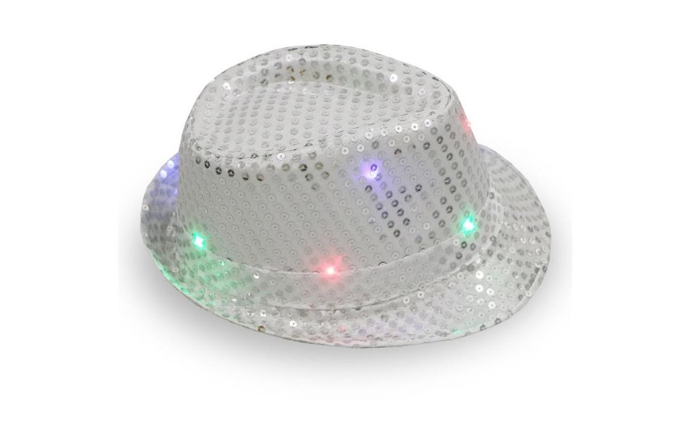 新款亮片led灯爵士帽-嘻哈夜晚舞台