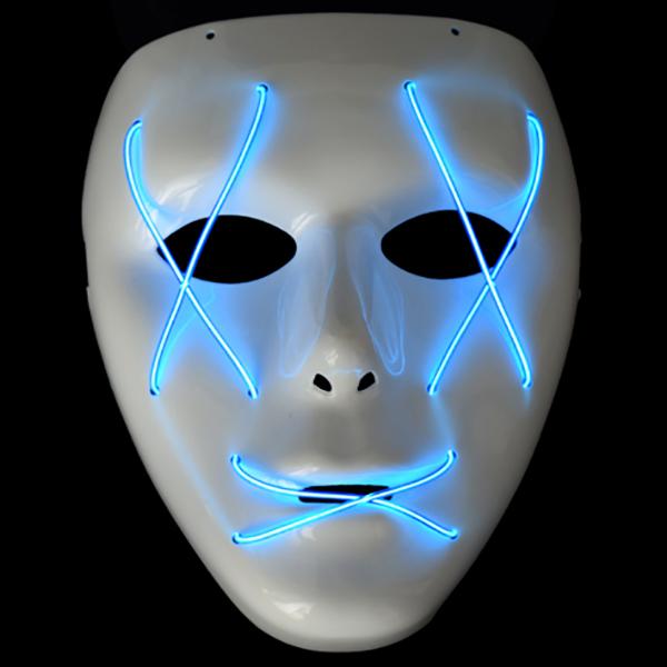 EL冷光线面具-发光展示图
